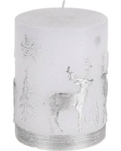 Strieborná sviečka Gardinia