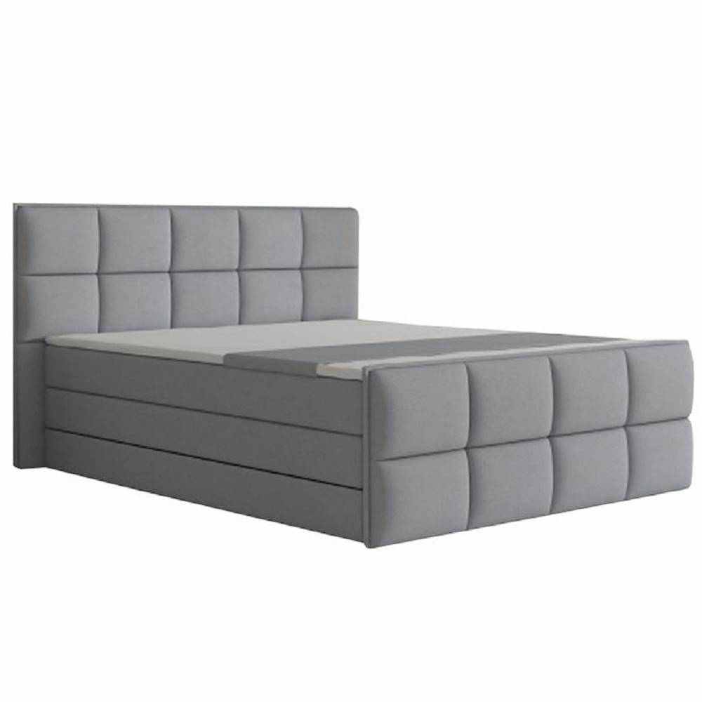 Tempo Kondela Komfortná posteľ sivá látka 160x200 RAVENA MEGAKOMFORT VISCO