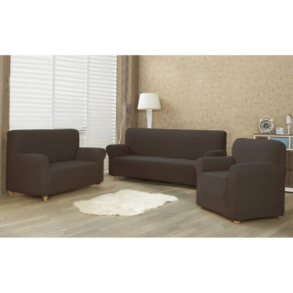 4Home 4Home Multielastický poťah na sedaciu súpravu Comfort hnedá, 180 - 220 cm