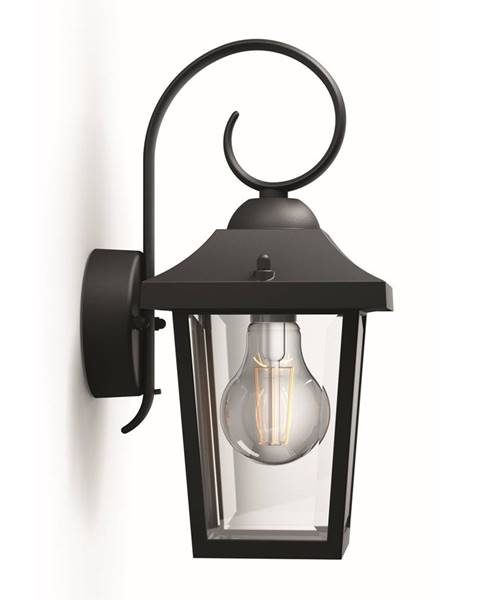 Čierne nástenné svietidlo Philips