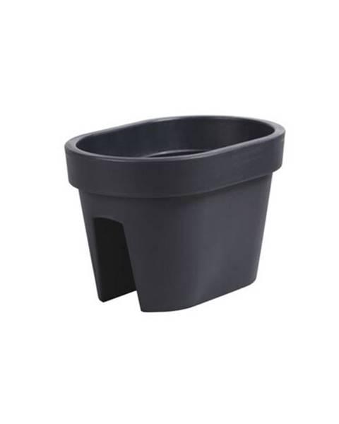 Čierny kvetináč Plastia