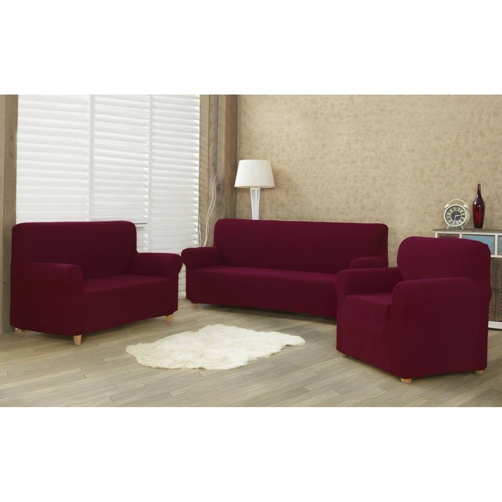 4Home 4Home Multielastický poťah na sedaciu súpravu Comfort bordó, 180 - 220 cm