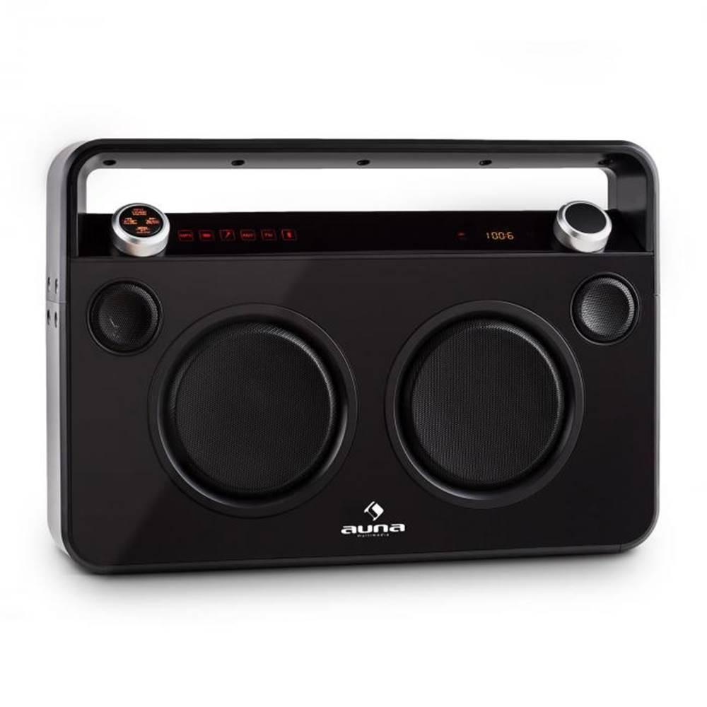 Auna Auna Bebop Ghettoblaster, čierny, USB bluetooth AUX MIC
