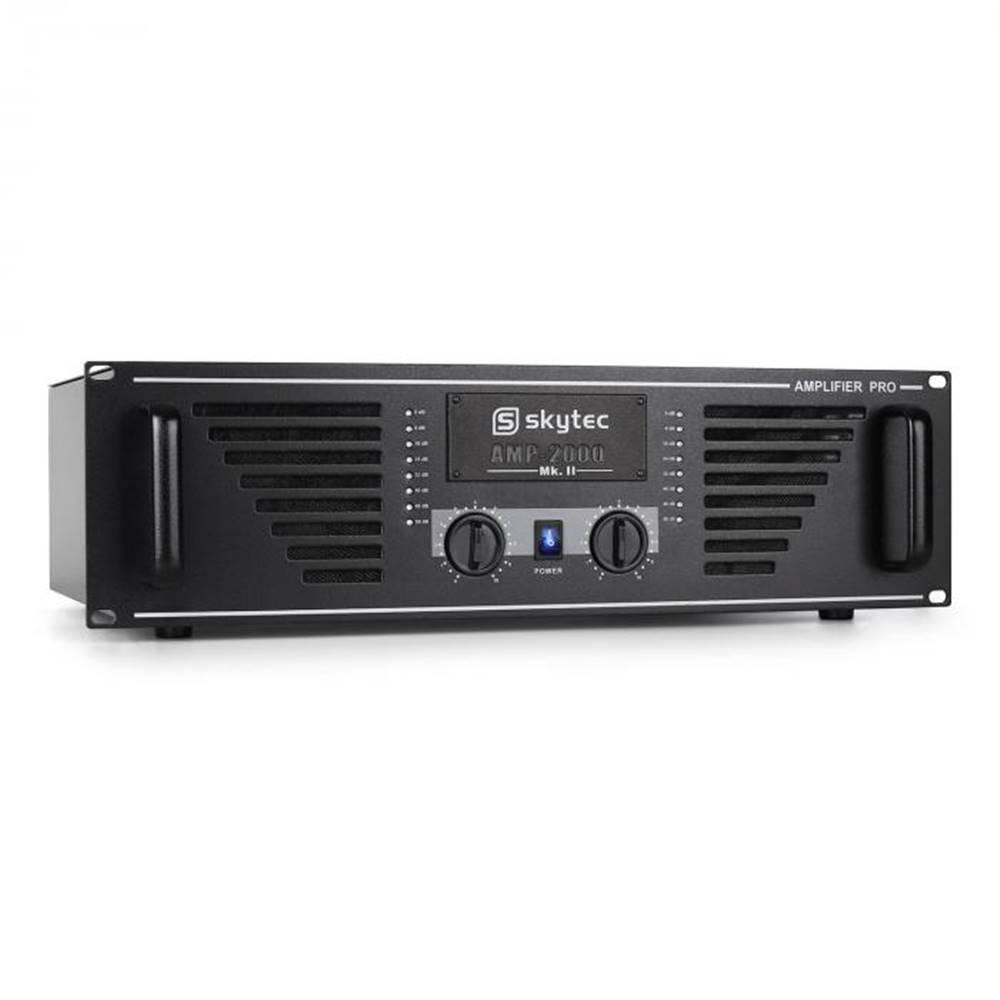 Skytec PA zosilňovač Skytec AMP–2000, 3200 W, s čiernym koncovým st
