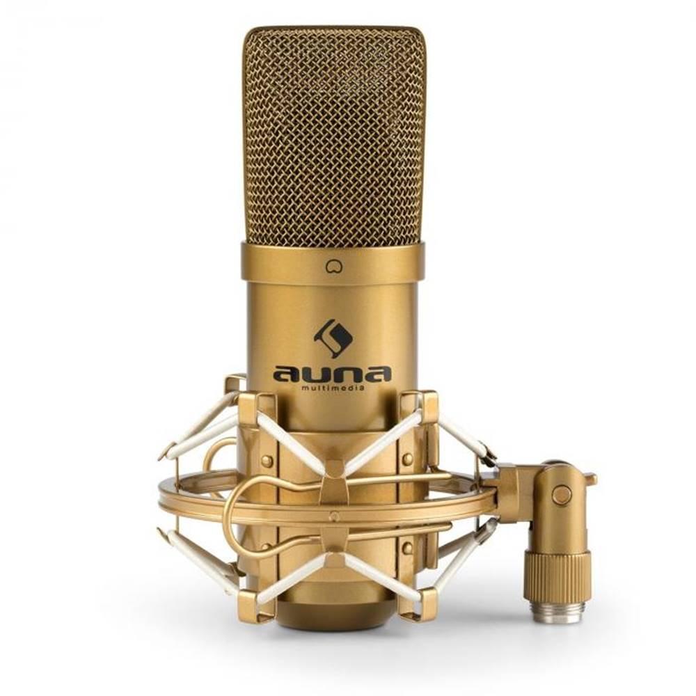 Auna Auna Pro MIC-900G, USB kondenzátorový mikrofón, štúdiový, kardioidná ch., zlatá farba
