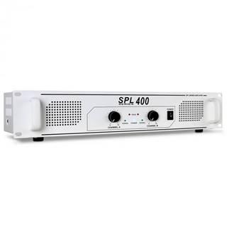 PA zosilňovač Skytec SPL 400, 1200 W, HiFi zosilňovač, biely