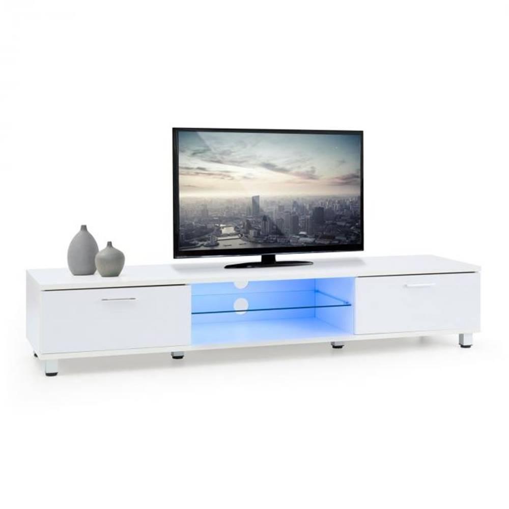 OneConcept OneConcept Keira Lowboard, TV stolík, biely, LED osvetlenie, zmena farieb