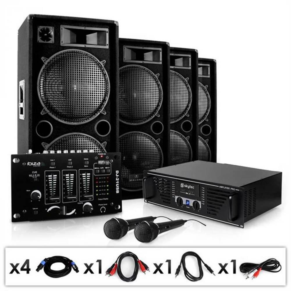 """Electronic-Star Electronic-Star Set """"Bass brigáda USB"""" Set, zesilovač, repro, mixpult, 4000W"""
