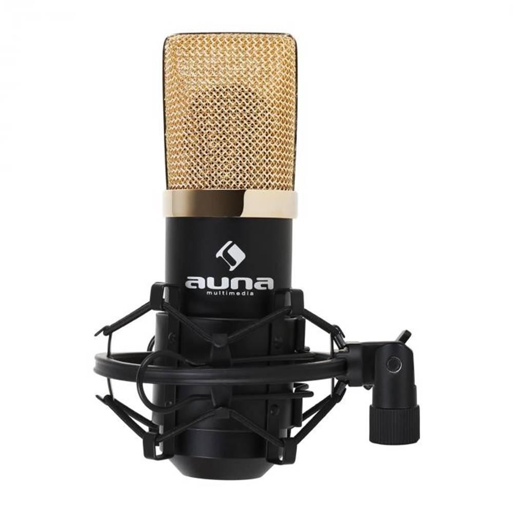 Auna Auna Pro MIC-900BG USB kondenzátorový mikrofón, čierno-zlatý