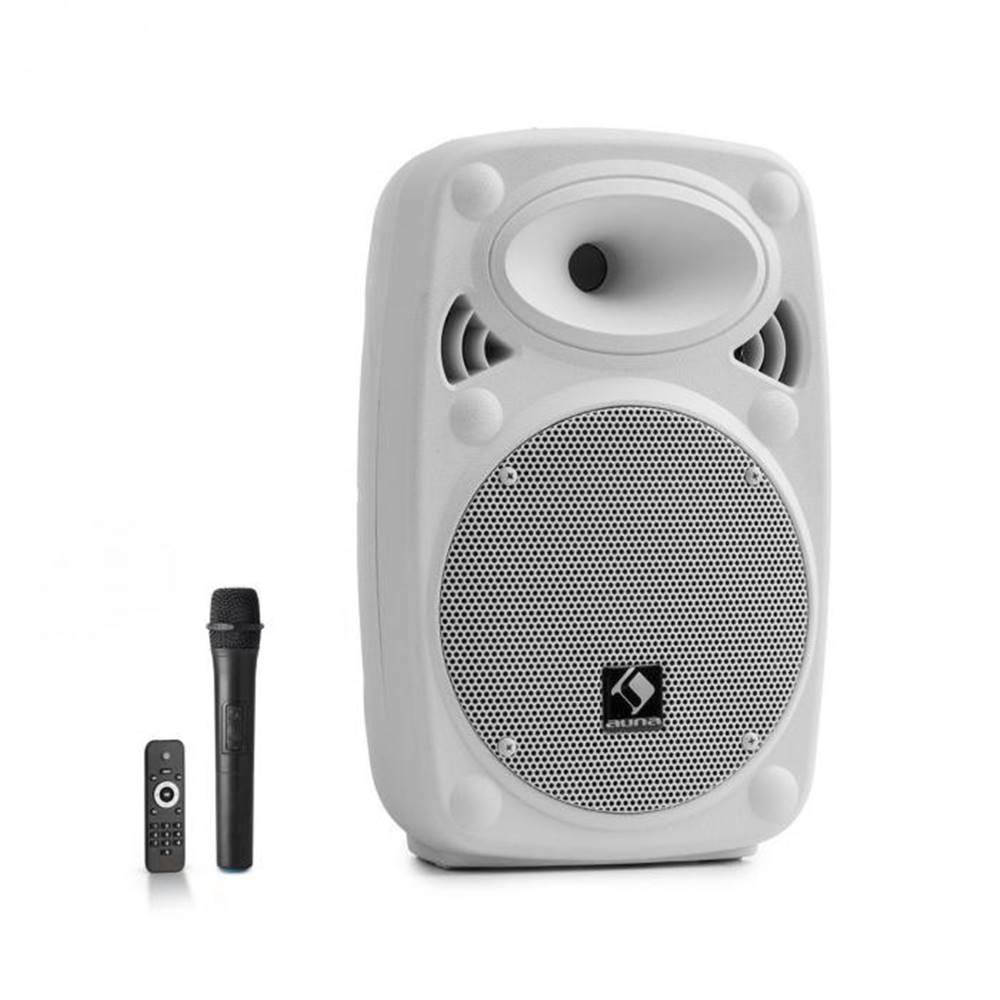 "Auna Auna Pro Streetstar 8, mobilný PA systém, 8"" (20 cm), UHF mikrofón, 200 W max., biely"