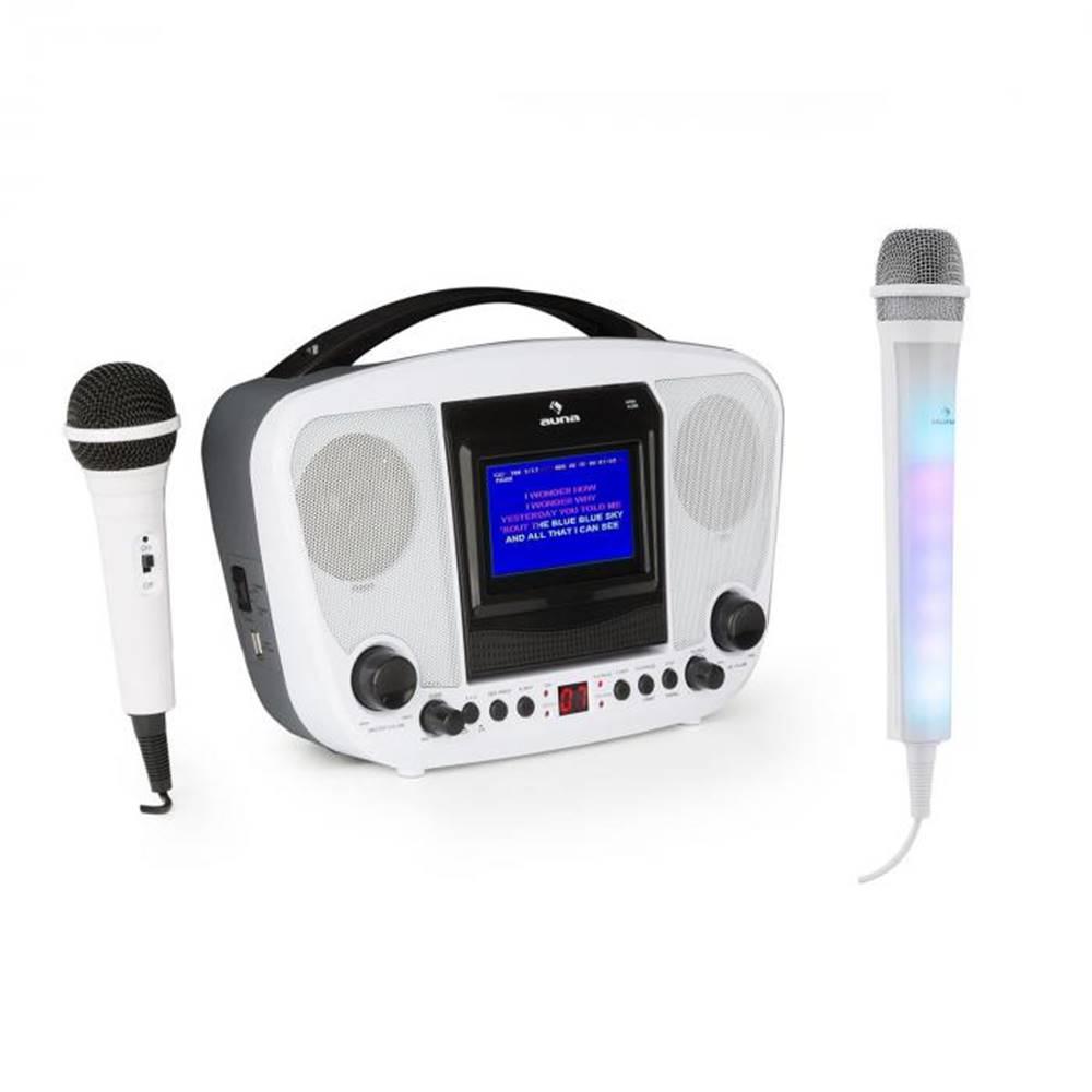Auna Auna KaraBanga, karaoke systém, bluetooth + mikrofón Kara Dazzl, biely