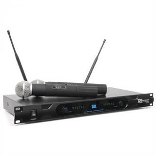 Power Dynamics PD722H, 2-kanálový UHF bezdrôtový mikrofónový systém, 2 x bezdrôtový mikrofón