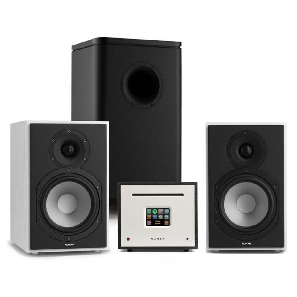 Numan Numan Unison Reference 802 Edition, stereo systém, zosilňovač, reproduktory, biela/čierna