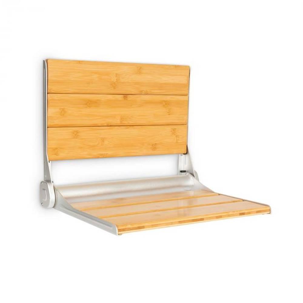 OneConcept OneConcept Arielle Deluxe, sedadlo do sprchy, bambus, hliník, sklápacie, 160 kg max., drevo