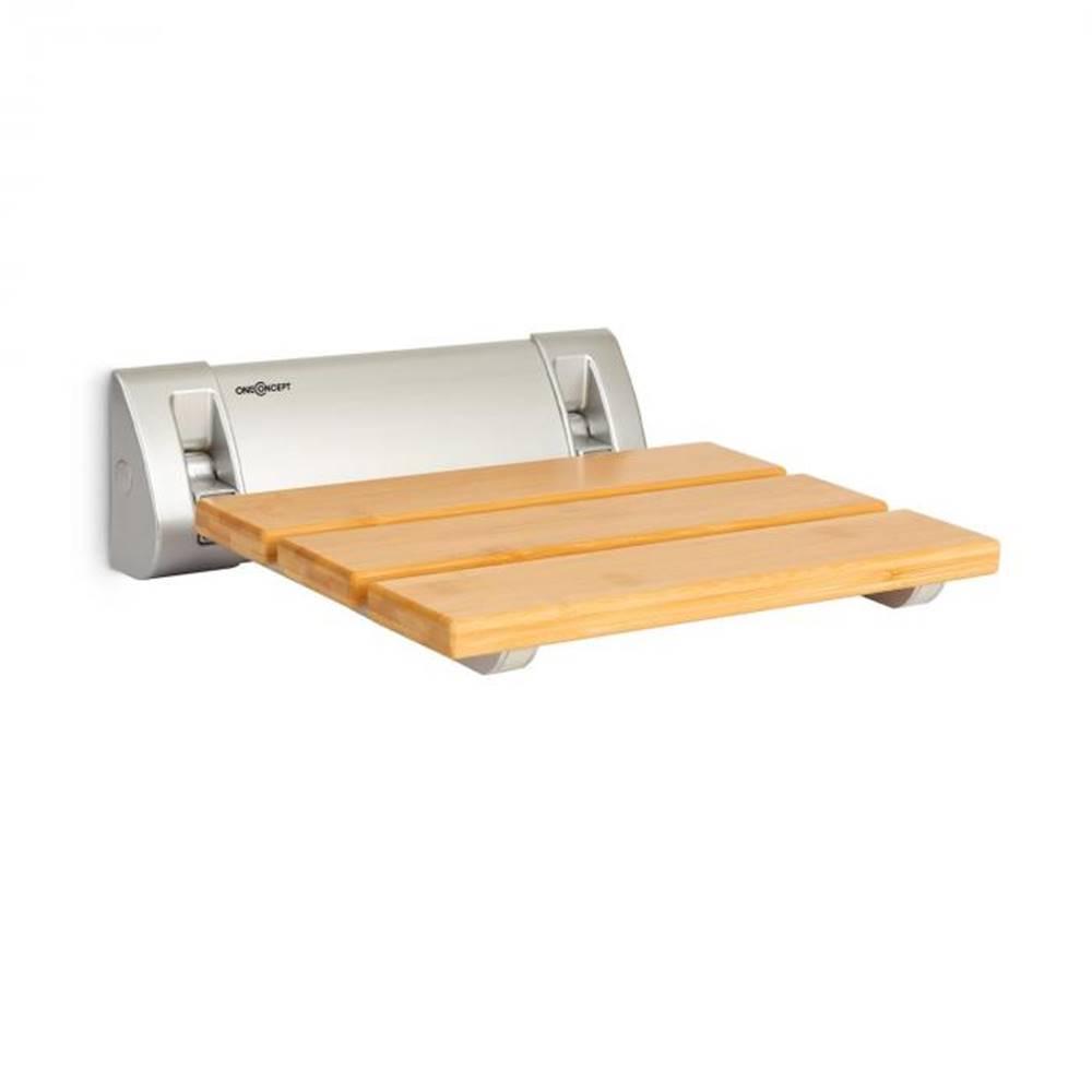 OneConcept OneConcept Arielle, sedadlo do sprchy, bambus, hliník, sklápacie, 160 kg max., drevo