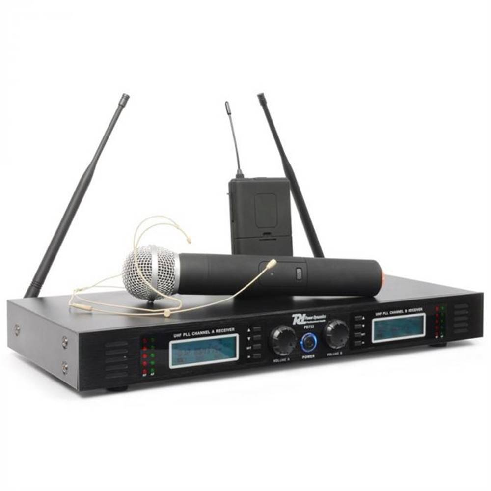 Power Dynamics Power Dynamics PD732C, 2 x 16-kanálový UHF bezdrôtový mikrofónový systém