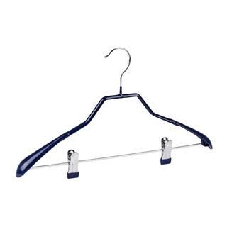 Modrý protišmykový vešiak na oblečenie s klipsami Wenko Hanger Shape