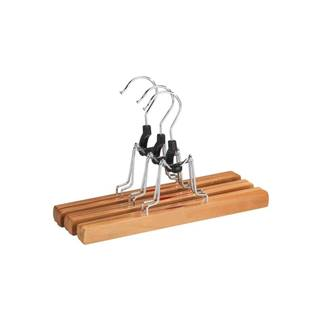 Sada 3 drevených vešiakov na nohavice Wenko Clamping Hanger