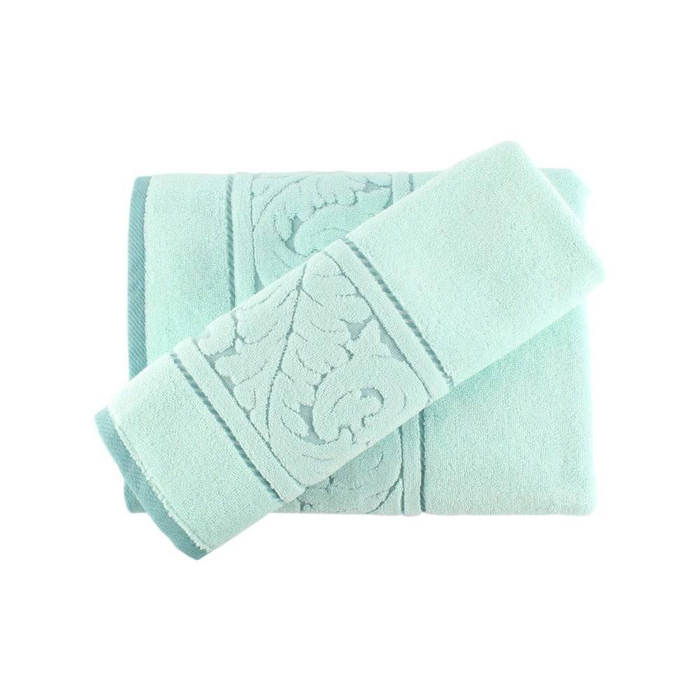Hobby Set mentolovozeleného bavlneného uteráka a osušky Sultan