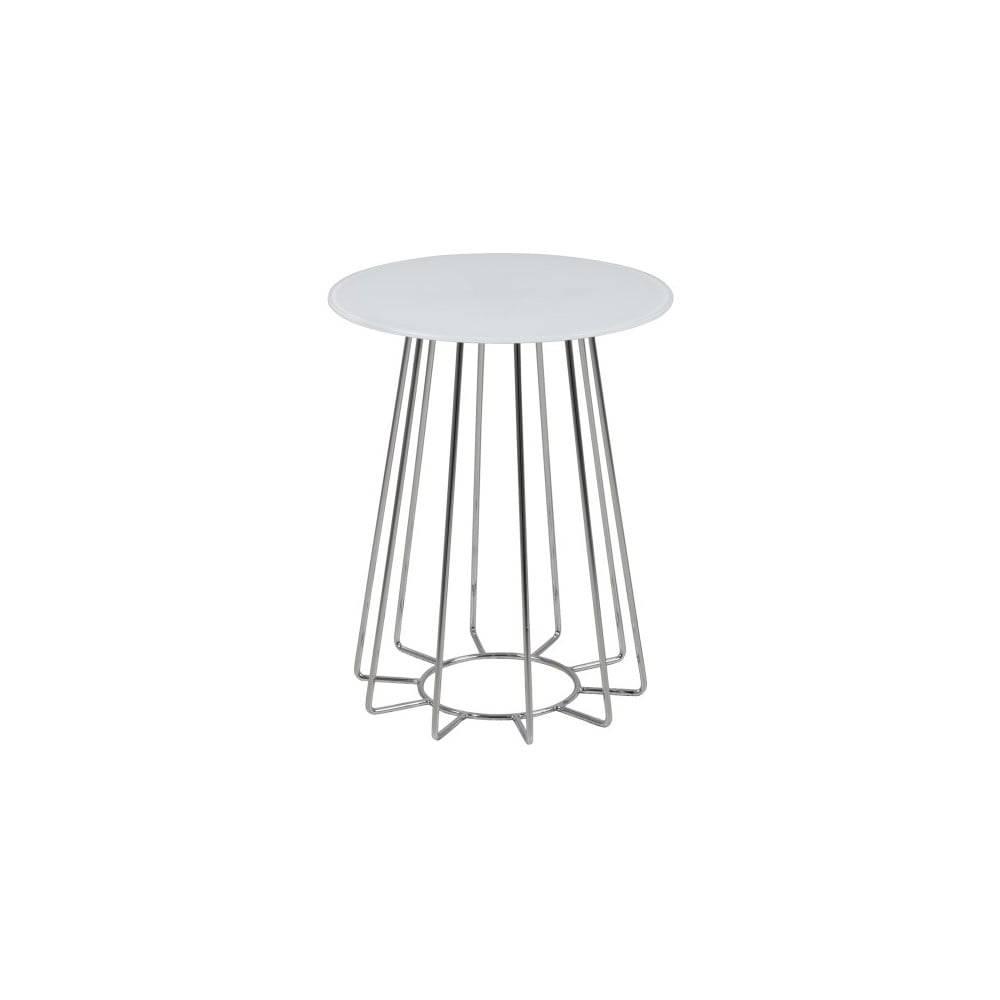 Actona Biely konferenčný stolík Actona Casia, výška 50 cm