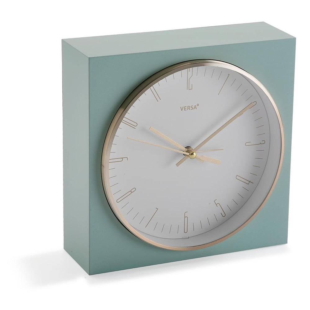 Versa Pastelovozelené stolové hodiny Versa Mint