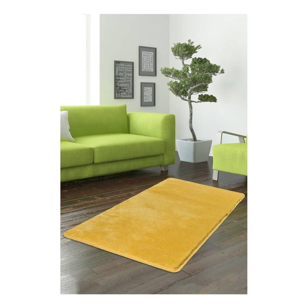 Bonami Žltý koberec Milano, 140 × 80 cm