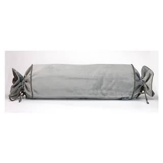 Sivá obliečka na vankúš WeLoveBeds Silver Candy, Ø 20 × 58 cm