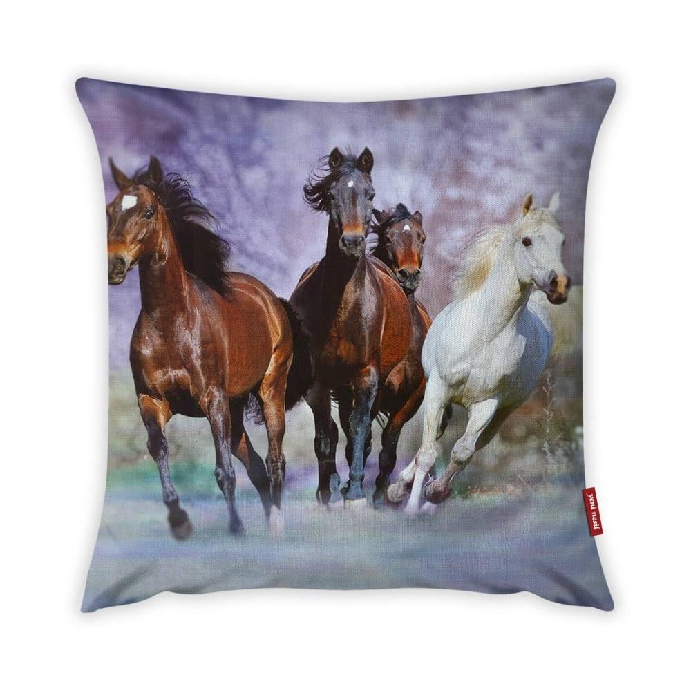 Vitaus Obliečka na vankúš Vitaus Horses, 43×43 cm