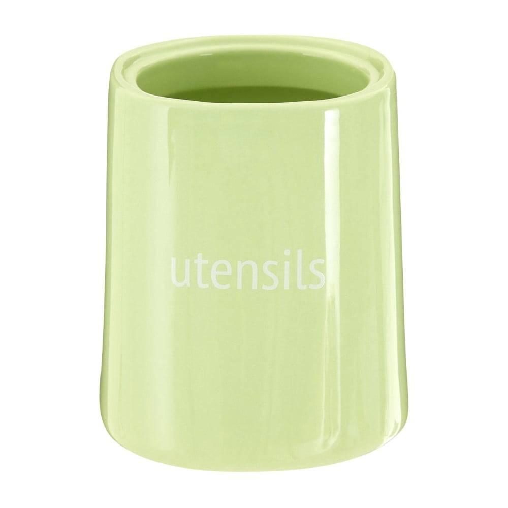 Premier Housewares Zelená nádoba na kuchynské nástroje Premier Housewares Fletcher, 800 ml