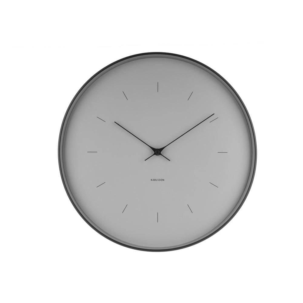 Sivé nástenné hodiny Karlss...