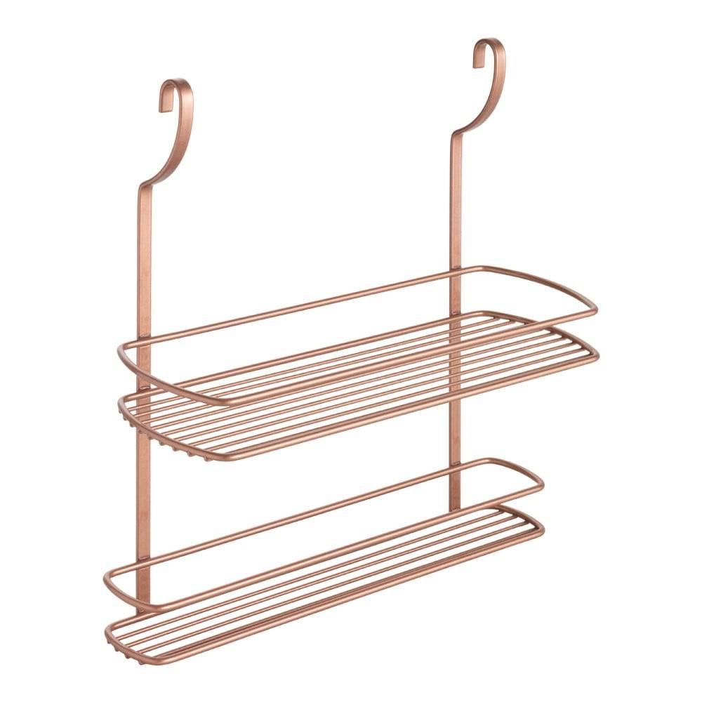 Metaltex Závesná polička s dvoma poschodiami Metaltex Copper