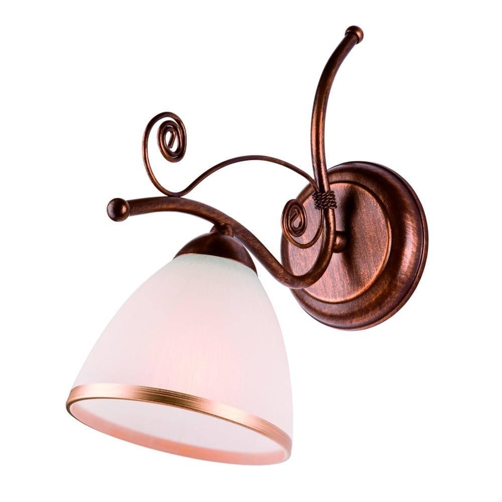 LAMKUR Bielo-hnedá nástenná lampa Lamkur Retro
