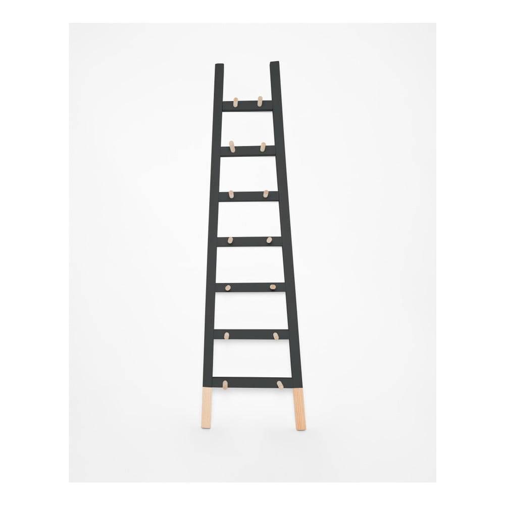 Surdic Čierny odkladacie dekoratívne rebrík z borovicového dreva Surdic Negro