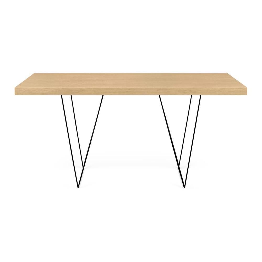 TemaHome Stôl s čiernymi nohami TemaHome Multi, 160 × 77 cm