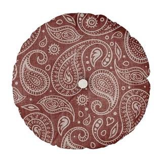 Vankúš Linen Couture Cojin Redondo Paisley, ⌀ 45 cm