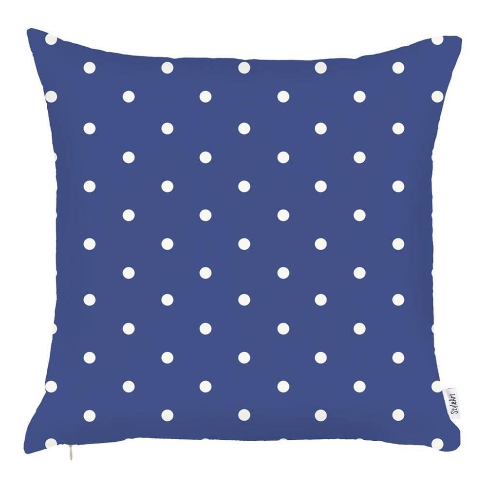 Apolena Modrá obliečka na vankúš Apolena Little Dots, 43×43 cm