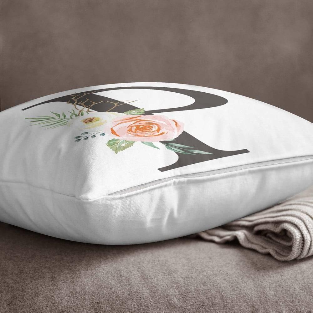 Minimalist Cushion Covers Obliečka na vankúš Minimalist Cushion Covers Floral Alphabet P, 45 x 45 cm