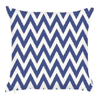 Modrá obliečka na vankúš Apolena Sail Zigzag, 43×43 cm