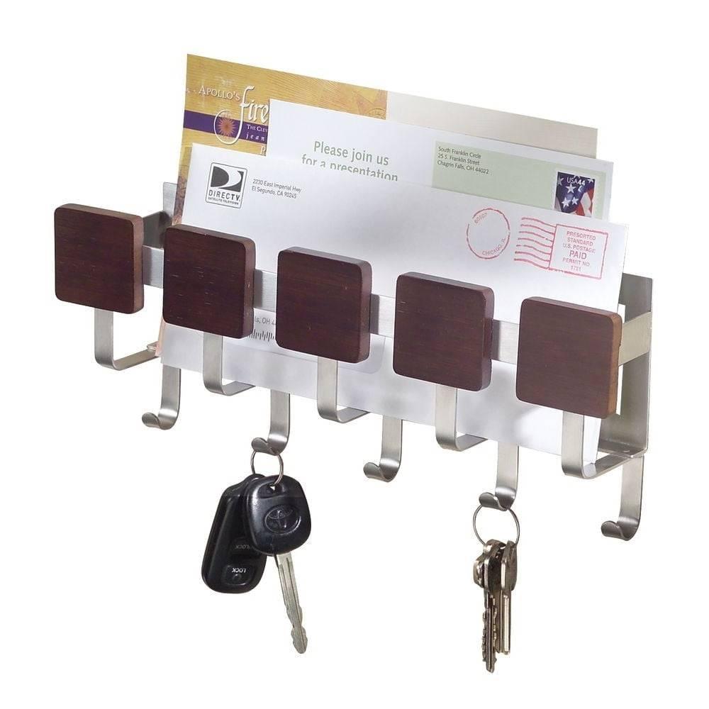 iDesign Držiak na kľúče s priehradkou na listy InterDesign Fombu
