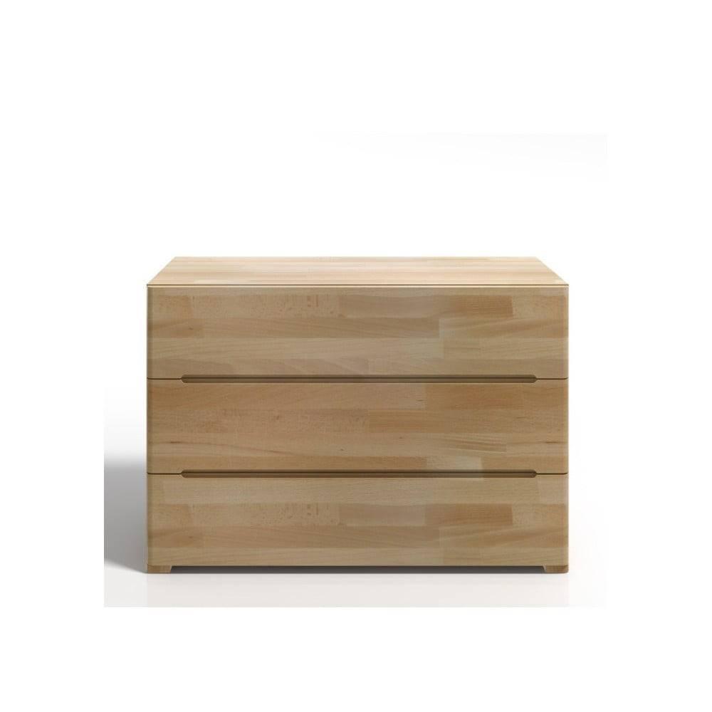 Skandica Komoda z bukového dreva s 3 zásuvkami SKANDICA Sparta