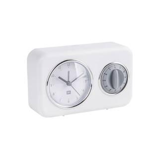 Biele stolové hodiny s kuchynskou minútkou PT LIVING Nostalgia