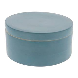Modrý bambusový úložný box s vekom Compactor Bamboo Box