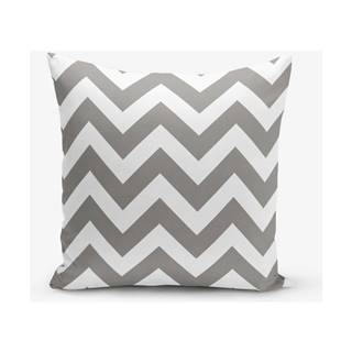 Obliečka na vankúš s prímesou bavlny Minimalist Cushion Covers Stripes, 45×45 cm
