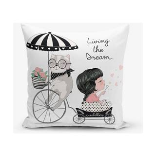 Obliečka na vankúš s prímesou bavlny Minimalist Cushion Covers Living Dream, 45 × 45 cm