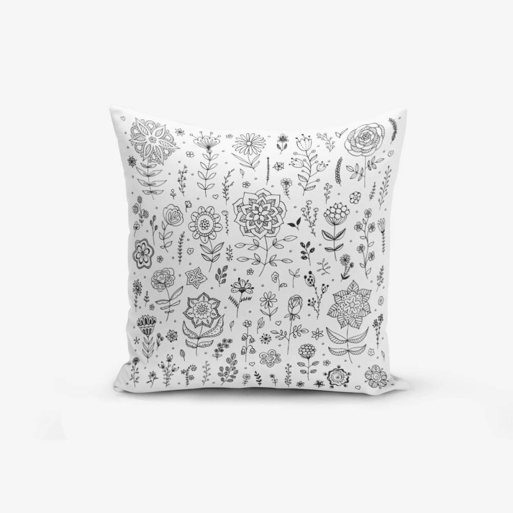 Minimalist Cushion Covers Obliečka na vankúš s prímesou bavlny Minimalist Cushion Covers Flower, 45×45cm