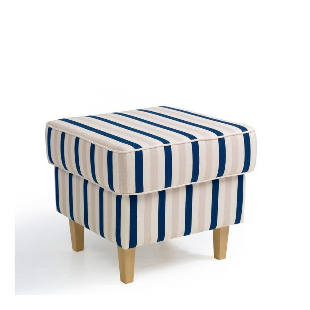 Max Winzer Modro-biela pruhovaná podnožka Max Winzer Lorris