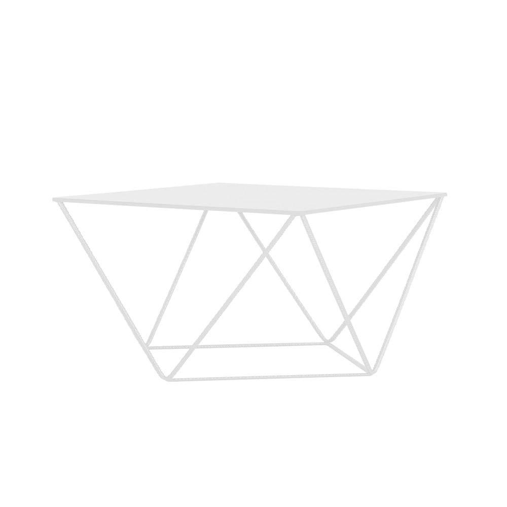Custom Form Biely konferenčný stolík Custom Form Daryl, 80 × 80 cm
