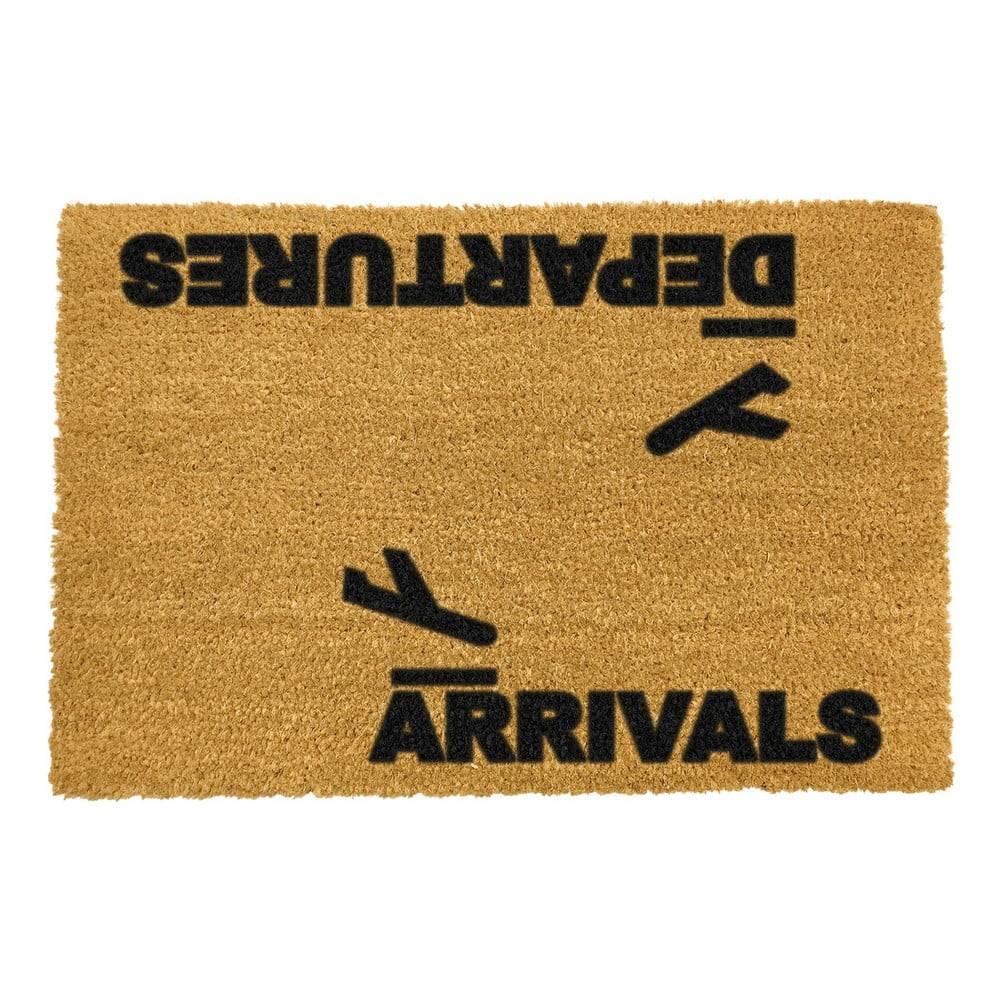 Artsy Doormats Rohožka z prírodného kokosového vlákna Artsy Doormats Arrivals and Departures, 40 x 60 cm