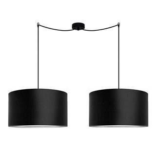 Čierne dvojité závesné svietidlo Sotto Luce MIKA