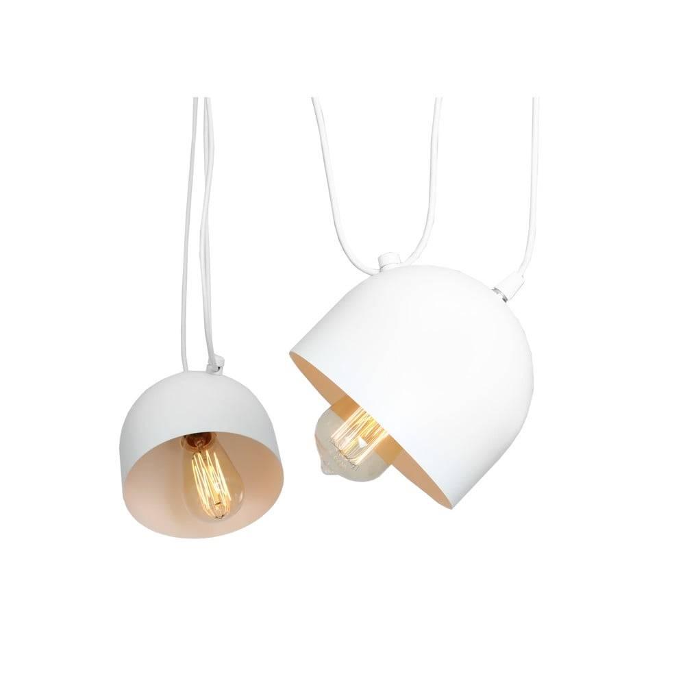 Custom Form Biele závesné svietidlo na 2 žiarovky Custom Form Popo